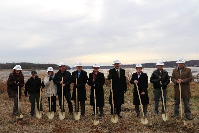 Groundbreaking at the future Widewater State Park