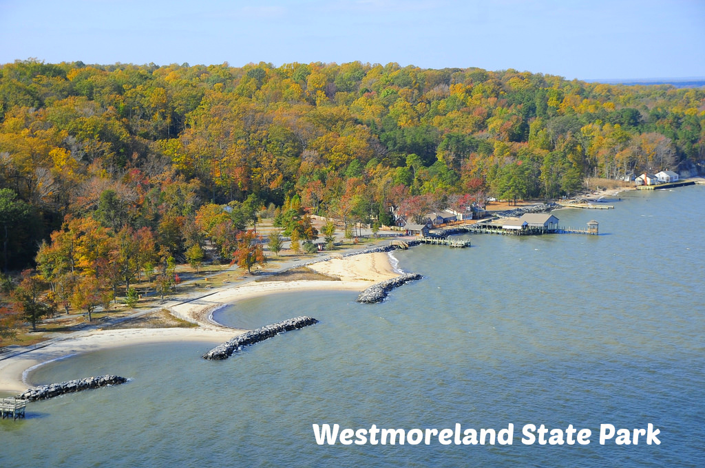 Westmoreland State Park along the Potomac River